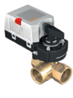 3-х ходовой кран Dn15 Kvs1,0 с приводом 225-024T-05